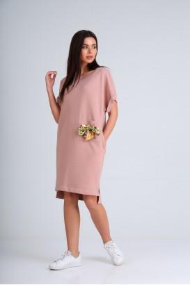 Платье DIAMANT 1654 Пудра+бантик