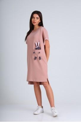 Платье DIAMANT 1654 Пудра+игрушка