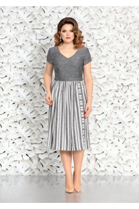 Платье Mira Fashion 4404-2 темно-серый