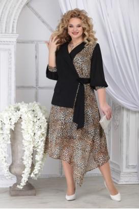 Платье Ninele 5821 леопард