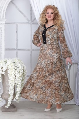 Платье Ninele 7314 леопард