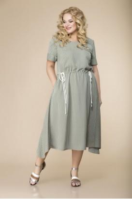 Платье Romanovich style 1-2127 Хаки+полоска